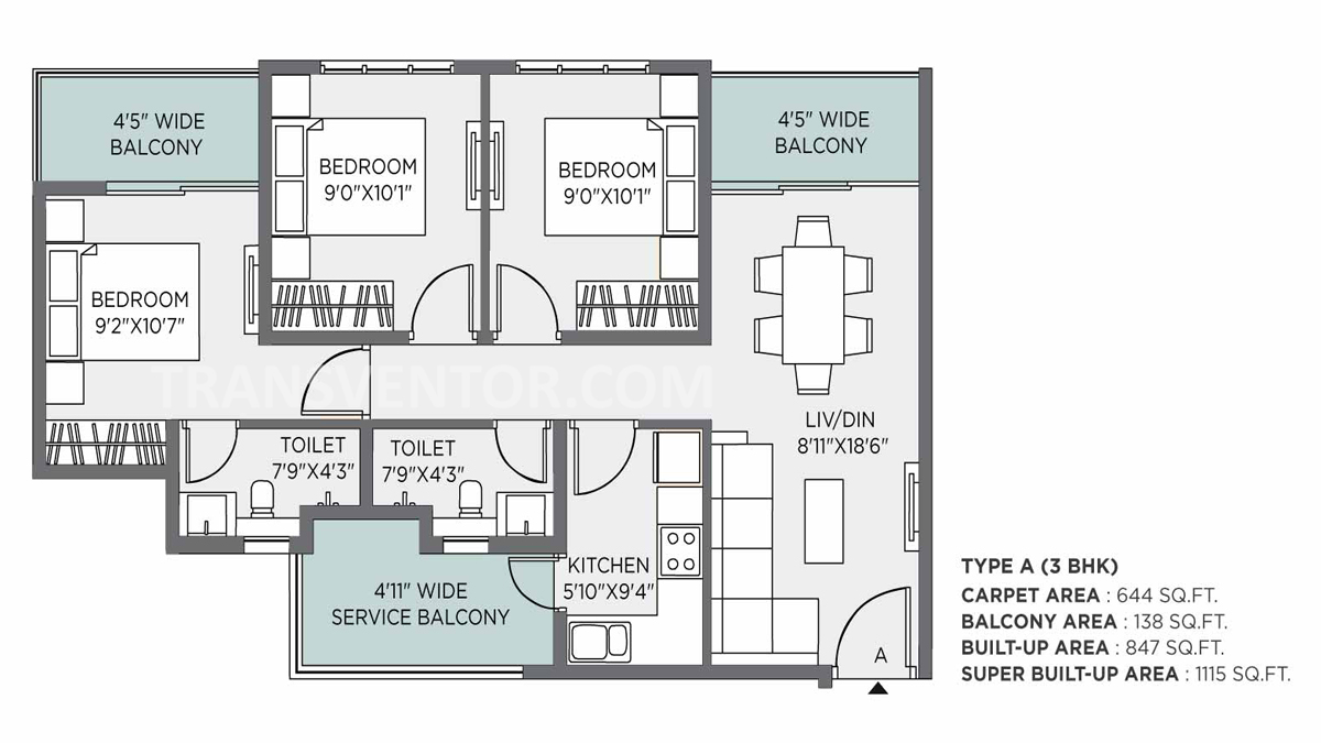 PS THE 102 Floor Plan 3