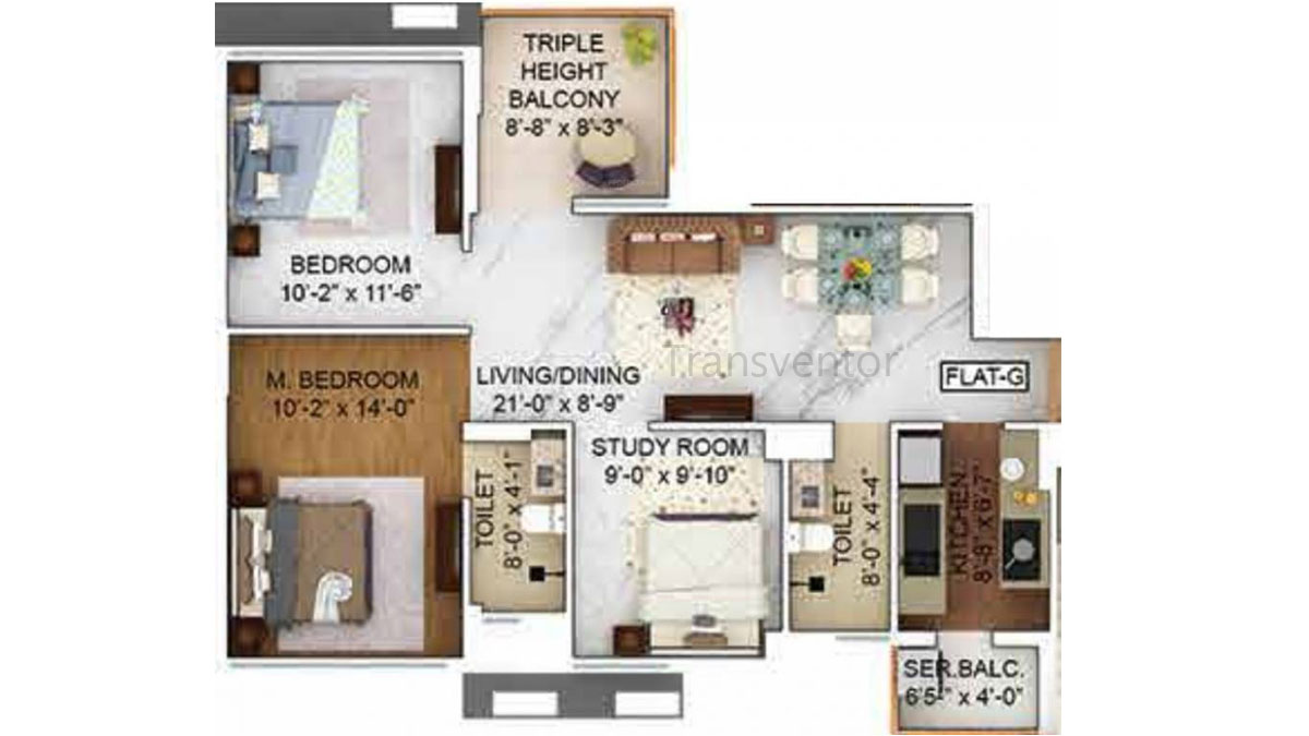 Merlin The One Floor Plan 4
