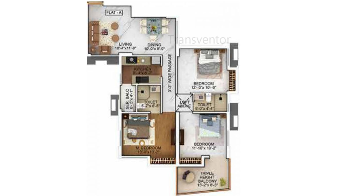 Merlin The One Floor Plan 6