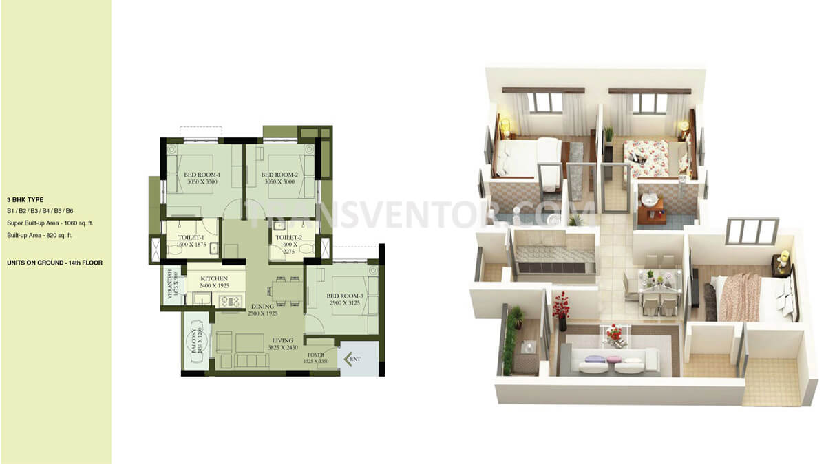 Calcutta Riverside Hiland Greens Phase II Floor Plan 2