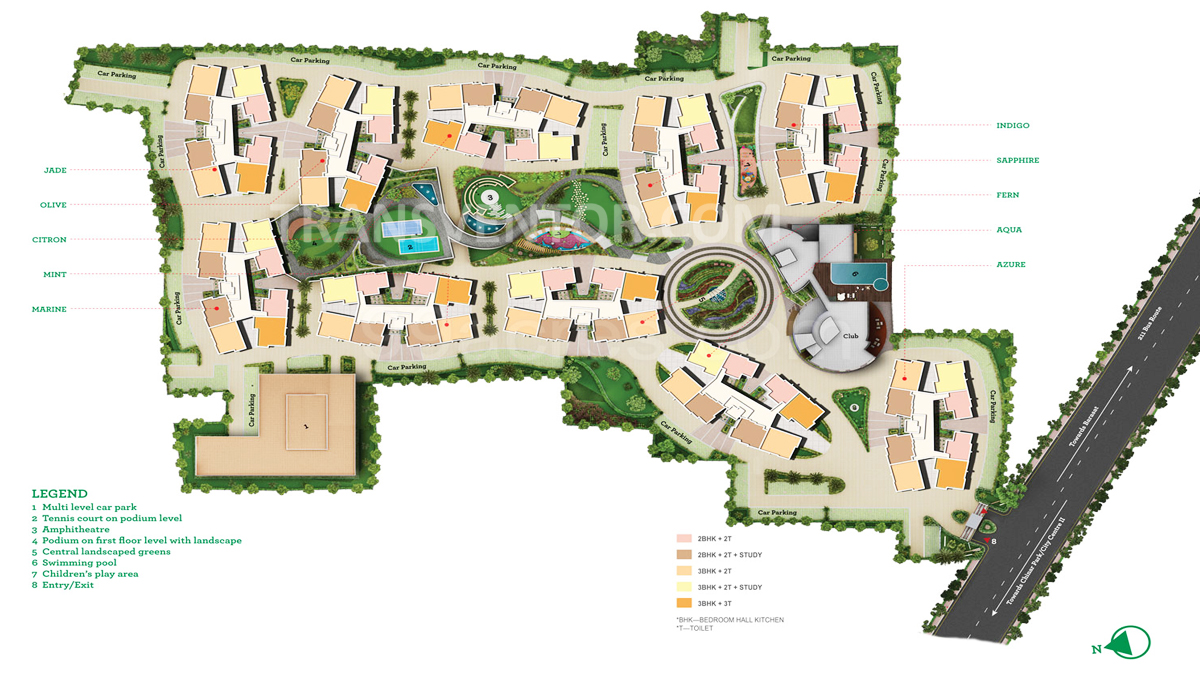 Siddha Happyville Floor Plan 1