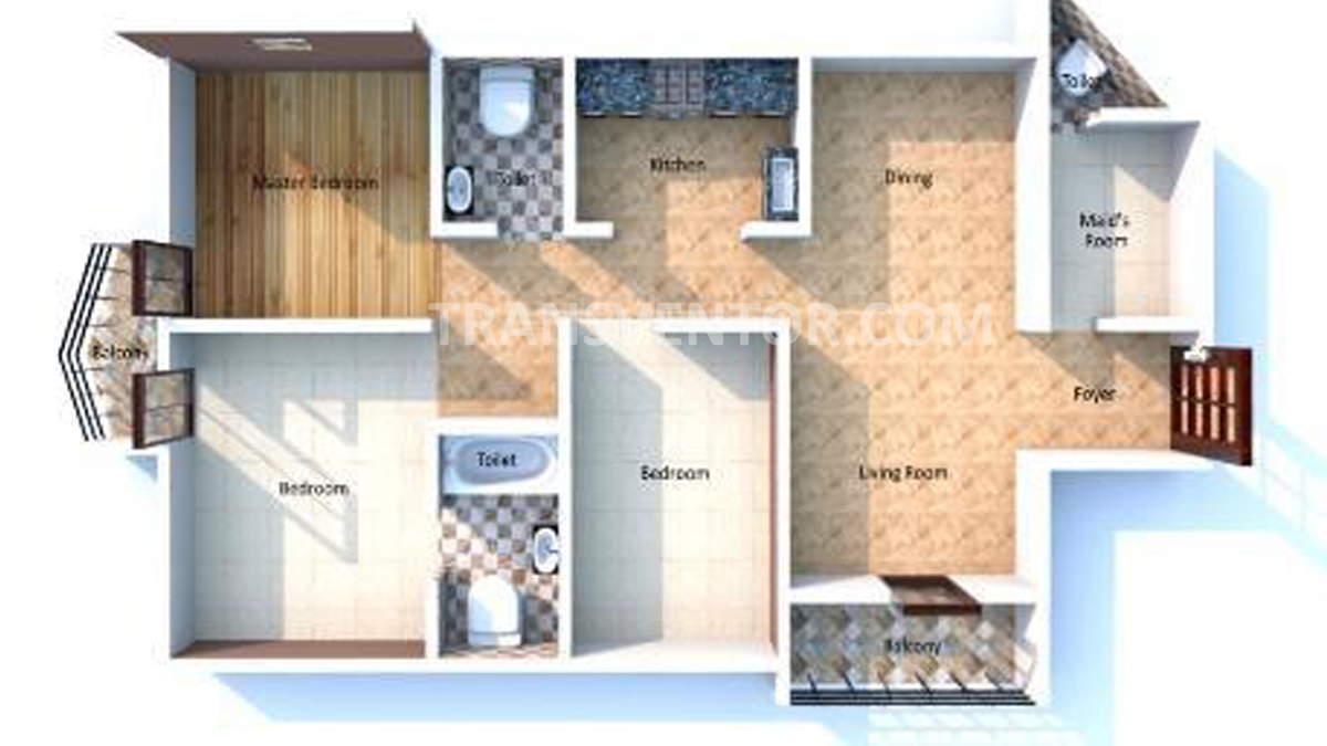Bengal Shelter Akankha Floor Plan 1