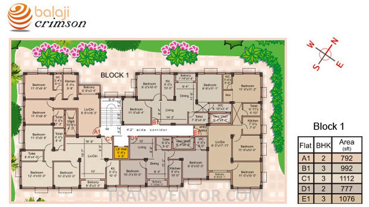 Balaji Crimson Floor Plan 1