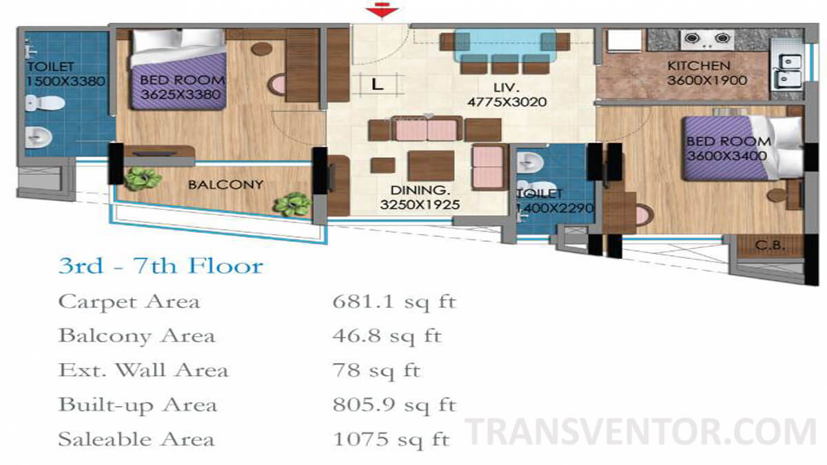 Belani Zest Floor Plan 1