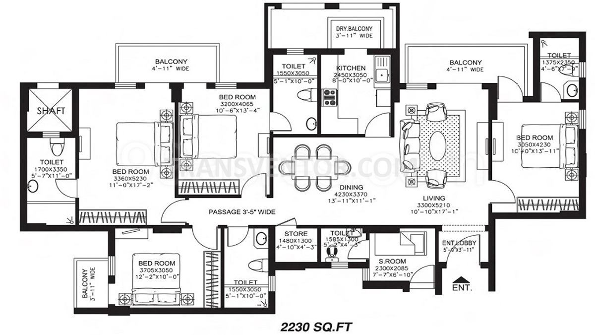 DLF Newtown Heights Floor Plan 1