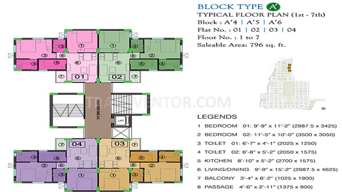 Eden City Maheshtala Floor Plan 1