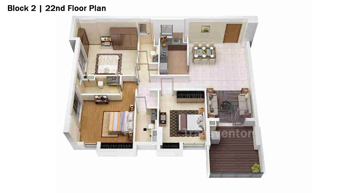 Merlin 5th Avenue Floor Plan 9