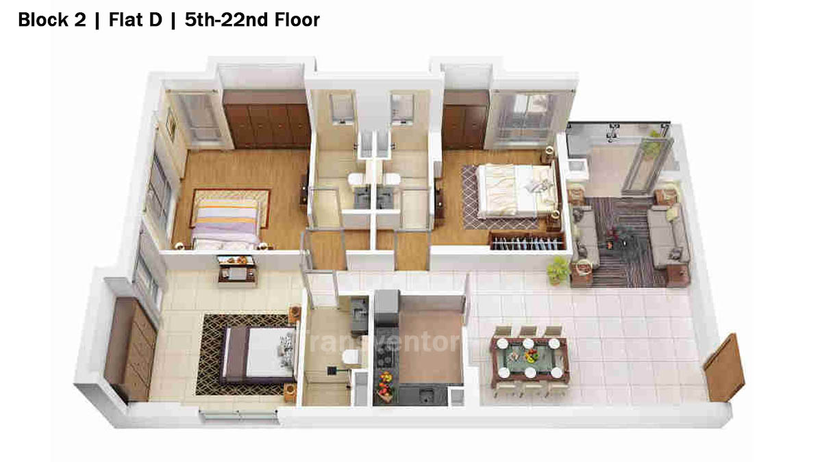 Merlin 5th Avenue Floor Plan 10