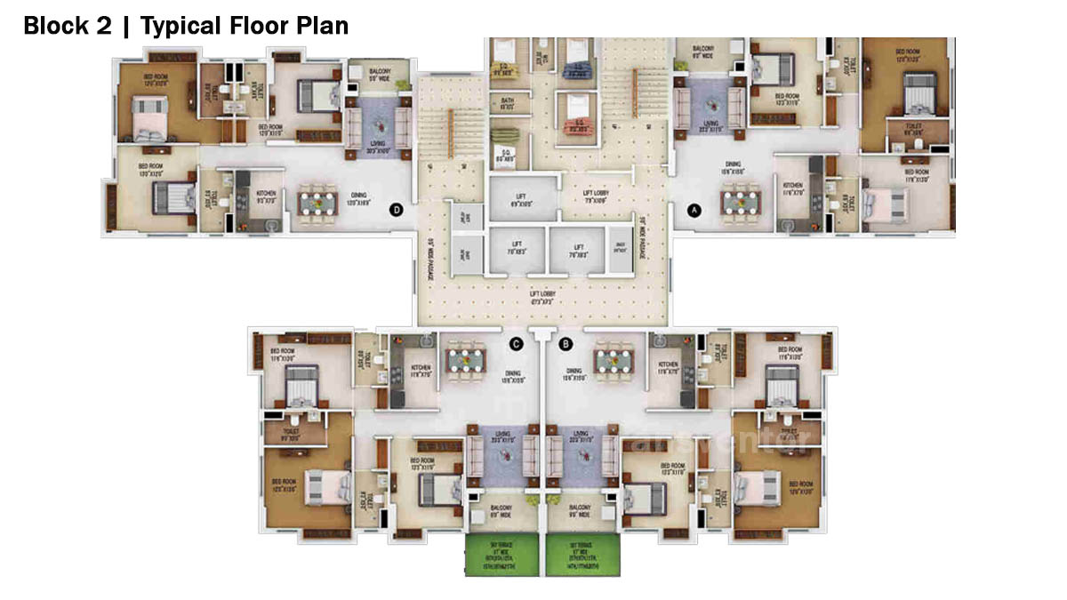 Merlin 5th Avenue Floor Plan 8