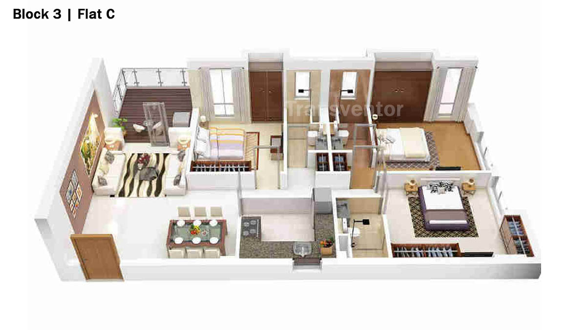 Merlin 5th Avenue Floor Plan 13