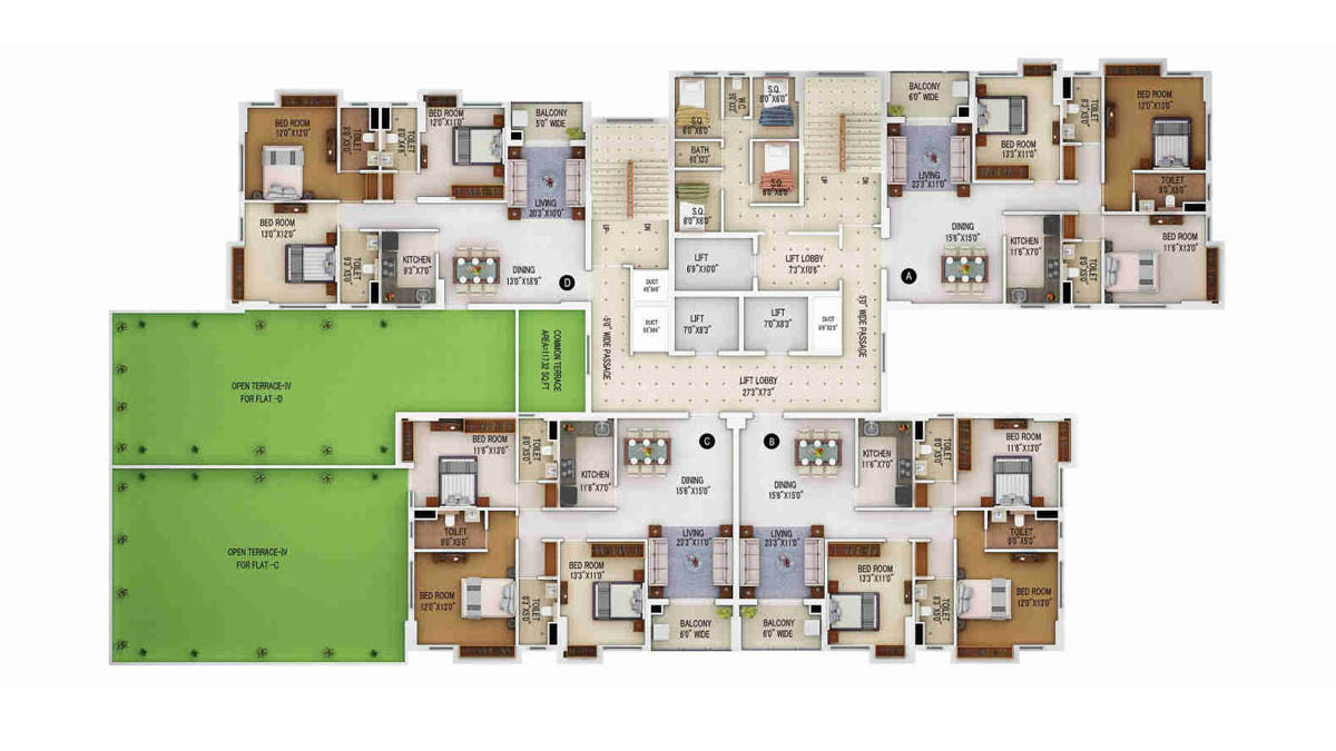 Merlin 5th Avenue Floor Plan 3
