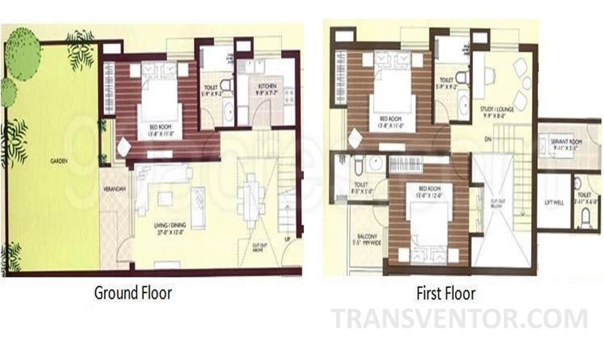 Sanjeeva Town Bungalows Floor Plan 2