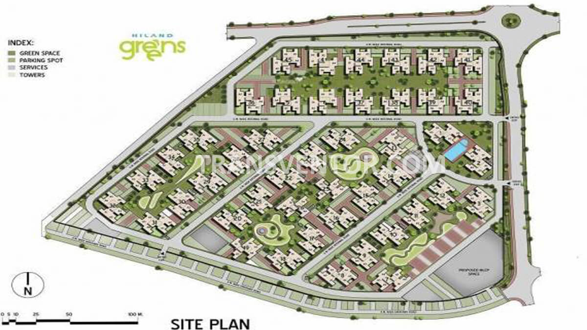 Calcutta Riverside Hiland Greens Phase II Floor Plan 3