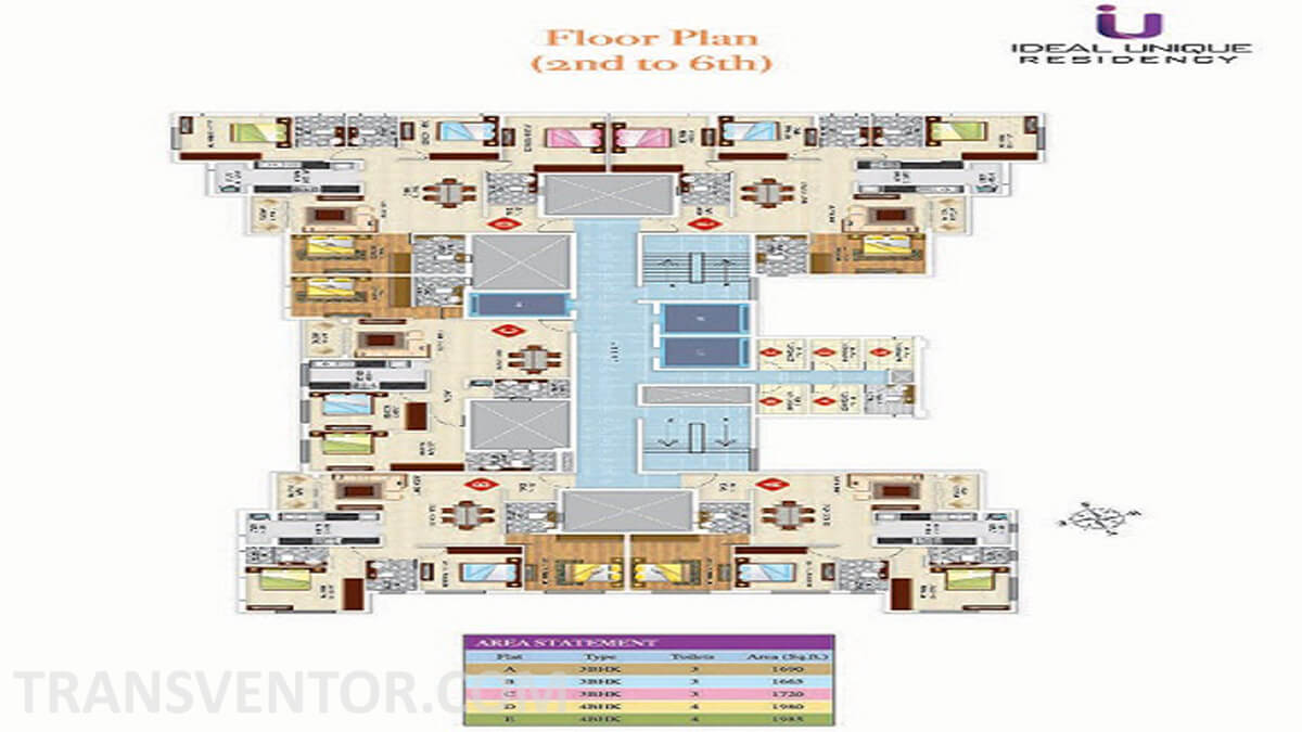 Ideal Unique Residency Floor Plan 2
