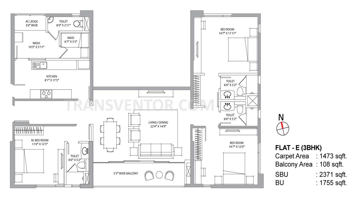 PS Aurus Floor Plan 1
