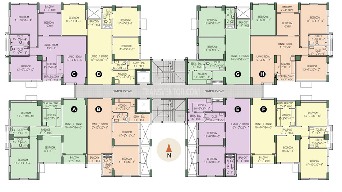 Purti Flowers Floor Plan 2
