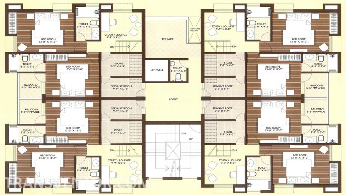 Vedic Sanjeeva Town Duplex Floor Plan 2