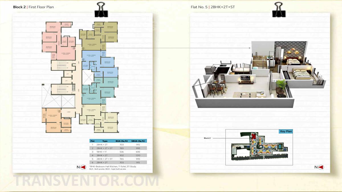 Siddha Suburbia Floor Plan 3