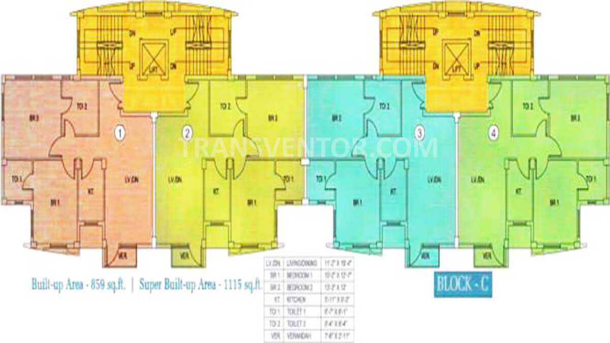 Sunny Fort Floor Plan 1