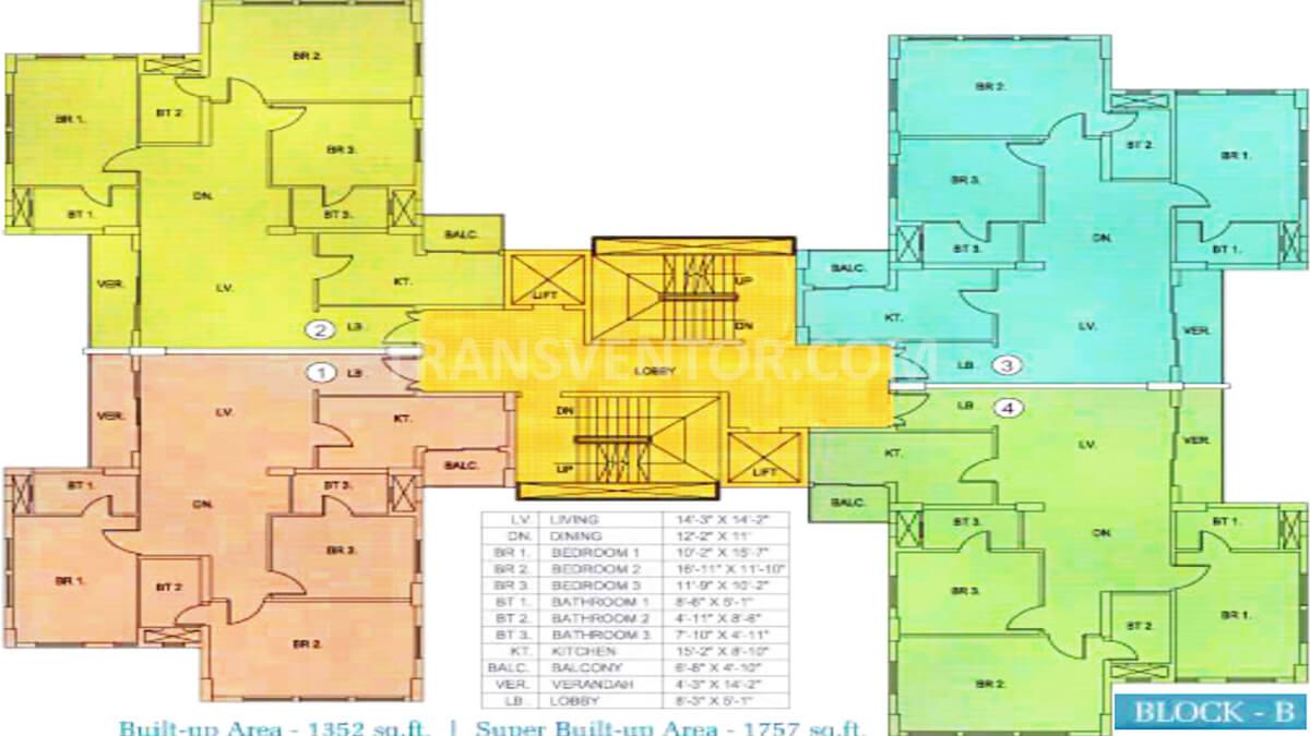 Sunny Fort Floor Plan 3
