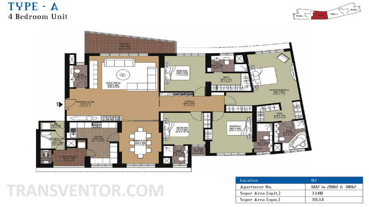 Unitech Air Floor Plan 1