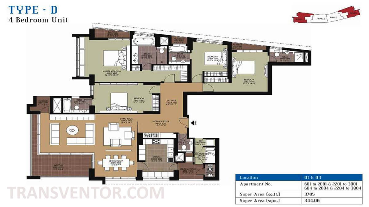 Unitech Air Floor Plan 2