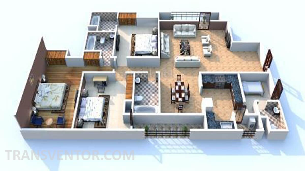 Unitech Cascade Floor Plan 1