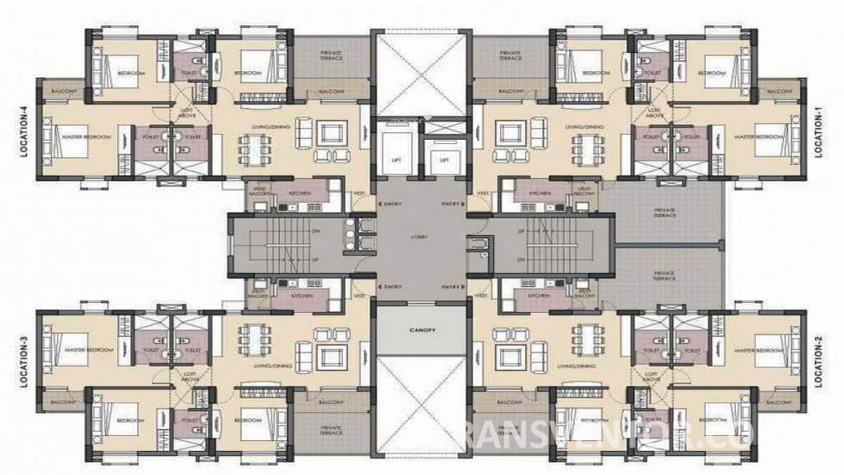 Unitech Fresco Floor Plan 1