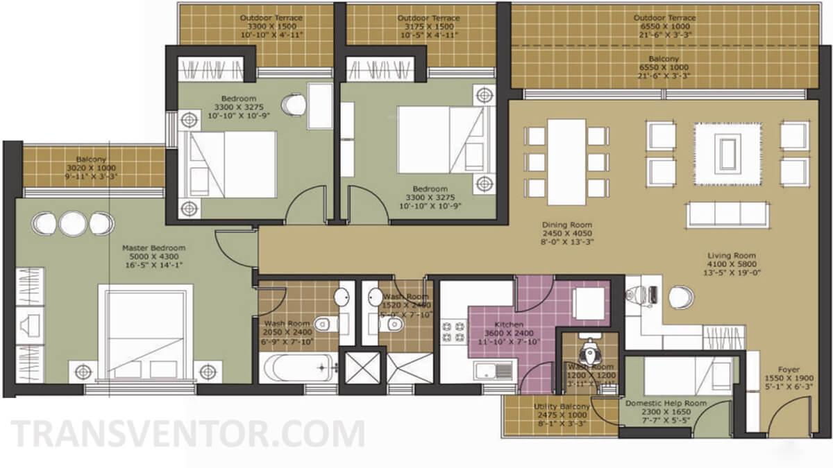 Unitech Harmony Floor Plan 2