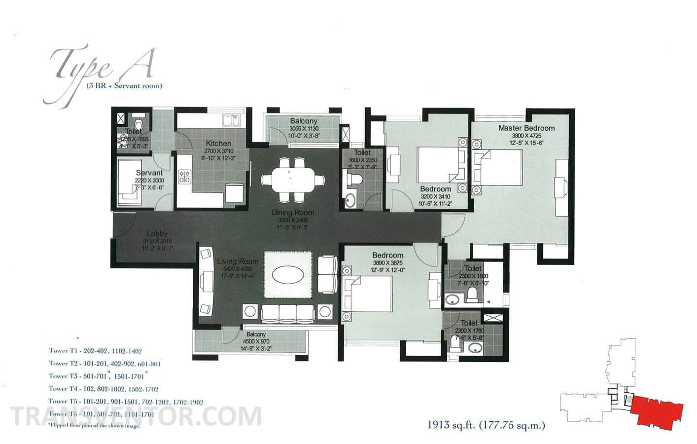 Unitech Heights Floor Plan 2