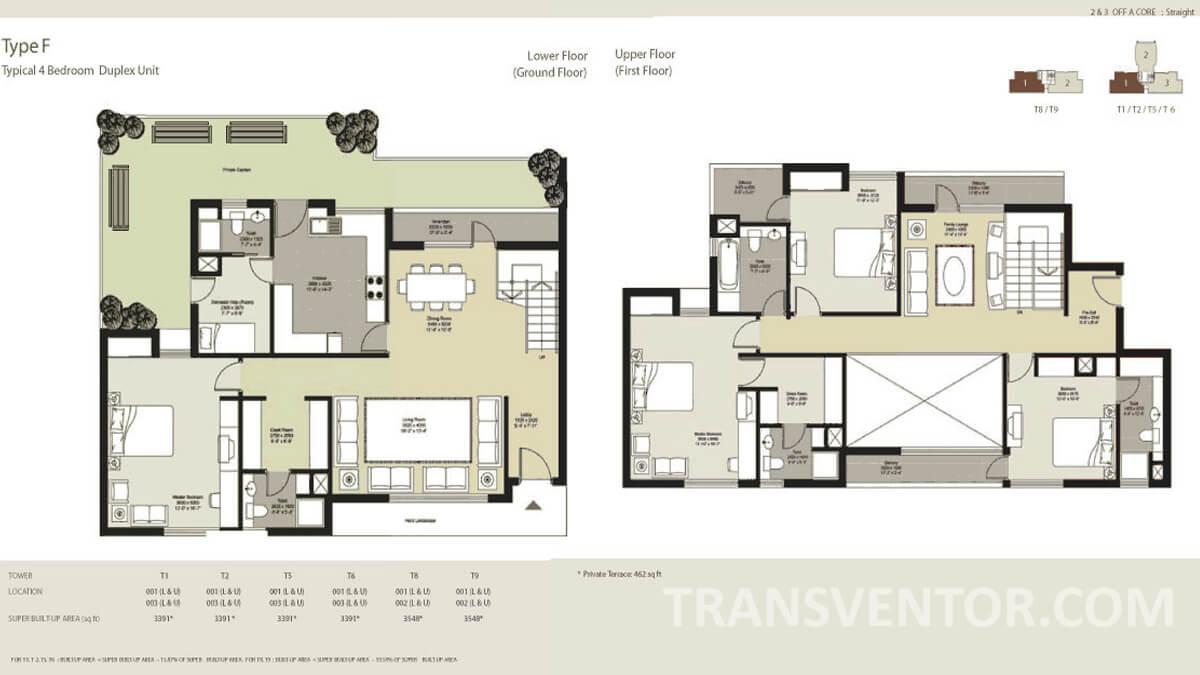 Unitech Horizons Floor Plan 1
