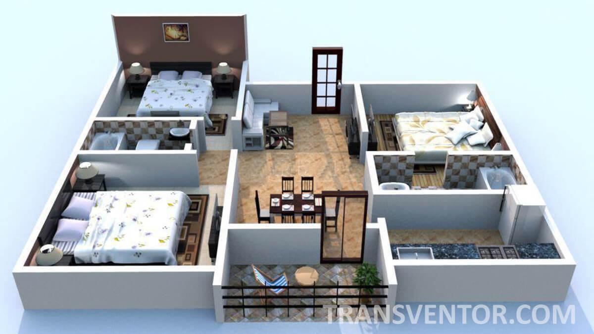 Bengal Abasan Urban Sabujayan Floor Plan 4