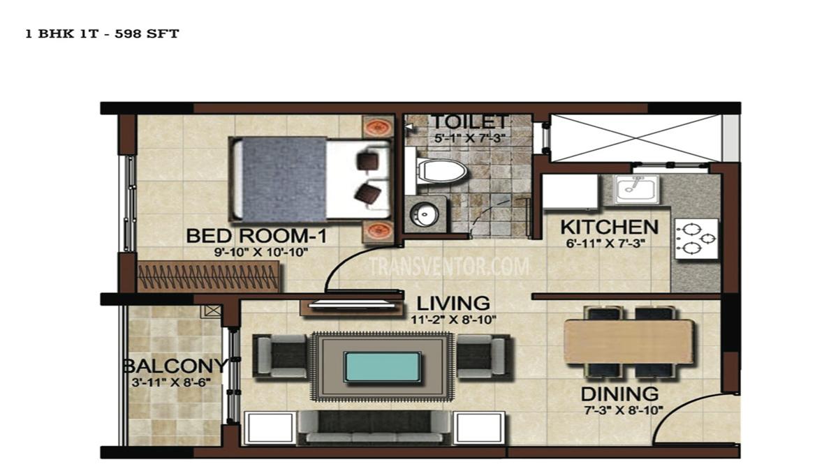 Salarpuria Sattva East Crest Floor Plan 6