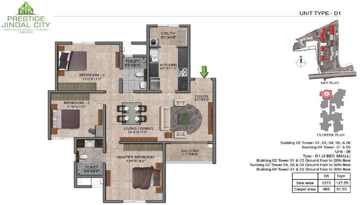 Prestige Jindal City Floor Plan 4