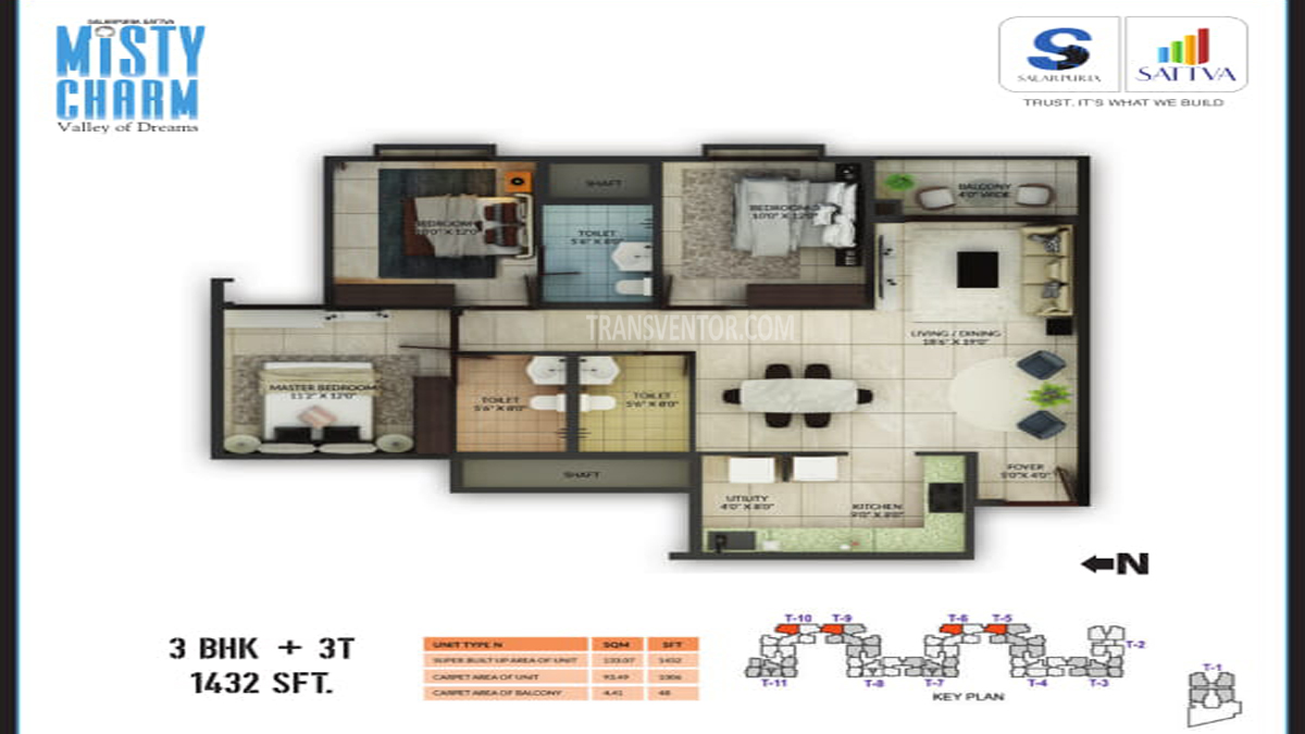 Salarpuria Misty Charm Floor Plan 1