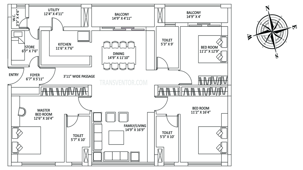 PS The Address Floor Plan 1