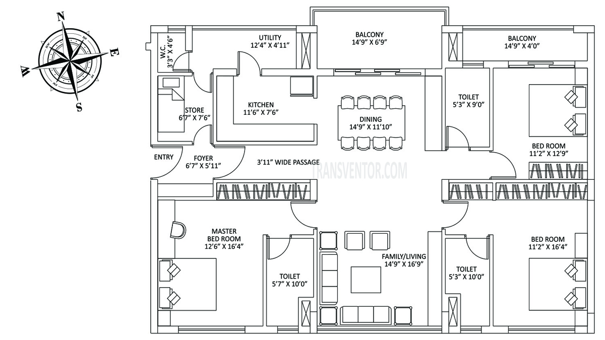 PS The Address Floor Plan 2