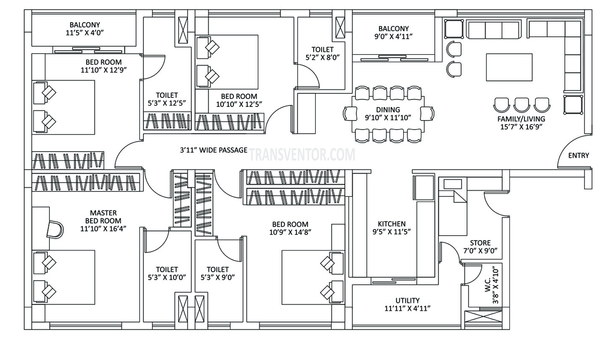 PS The Address Floor Plan 3