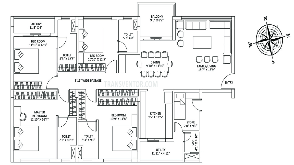 PS The Address Floor Plan 4