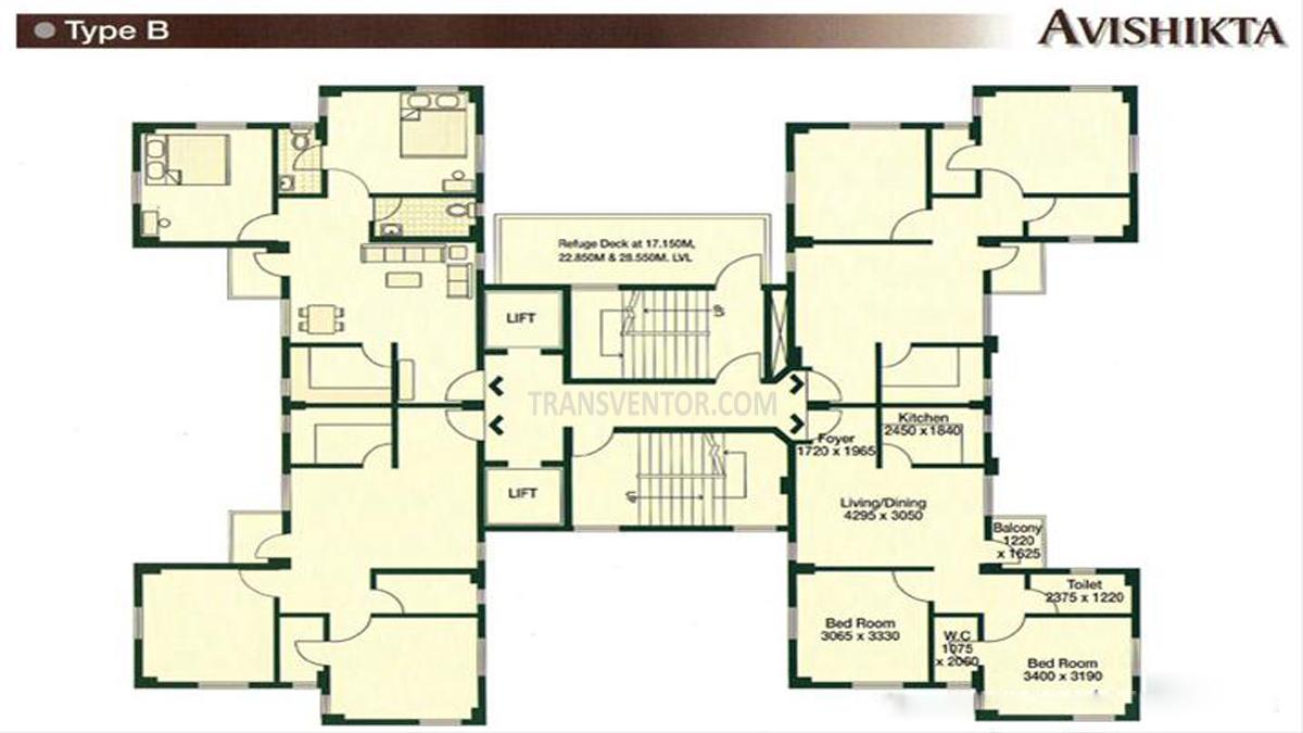 Bengal Peerless Avishikta Phase I Floor Plan 1