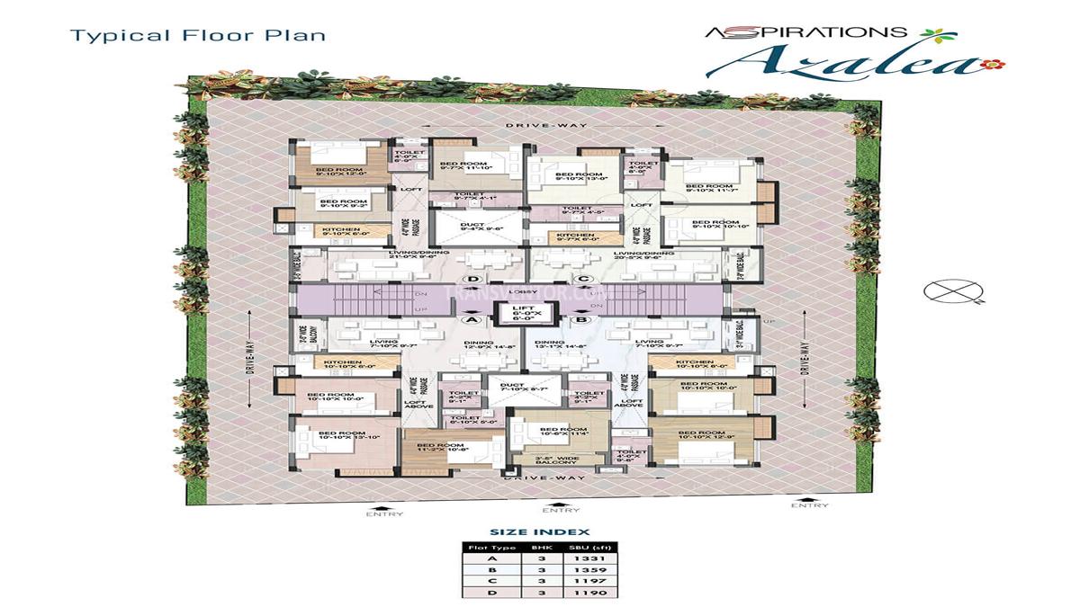 Aspirations Azalea Floor Plan 1
