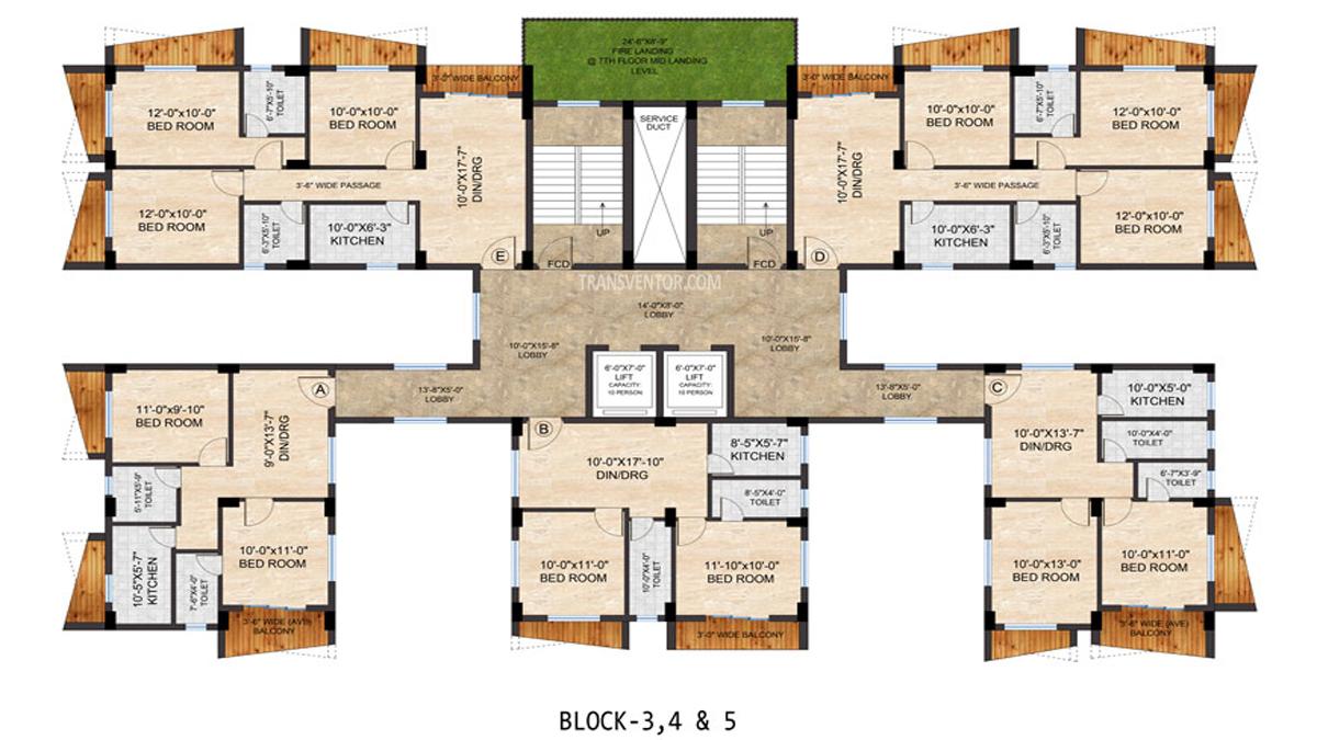 Realtech Nirman Hijibiji Floor Plan 4