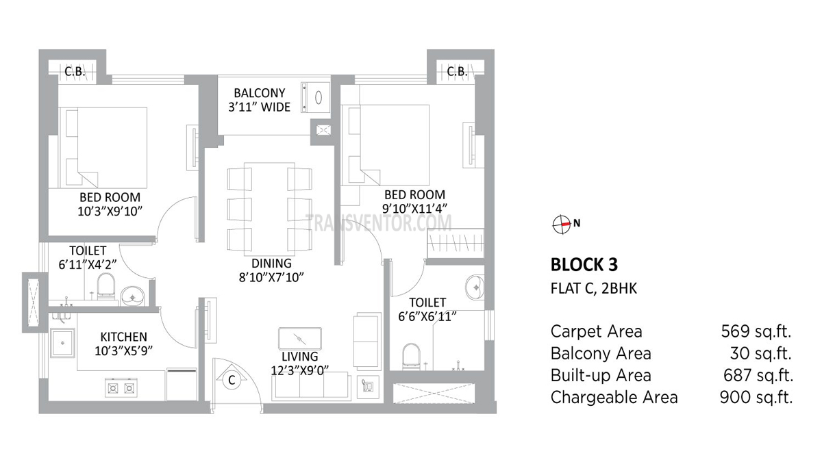 PS Amistad Floor Plan 3