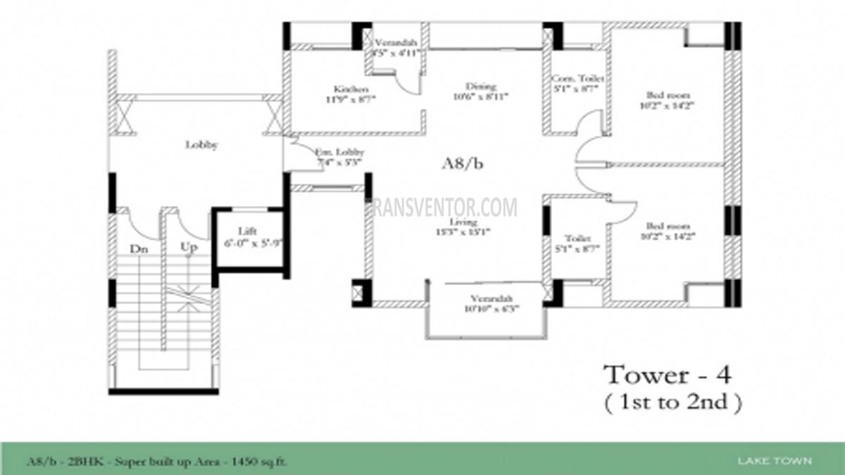 Hiland Calcutta Riverside Floor Plan 1