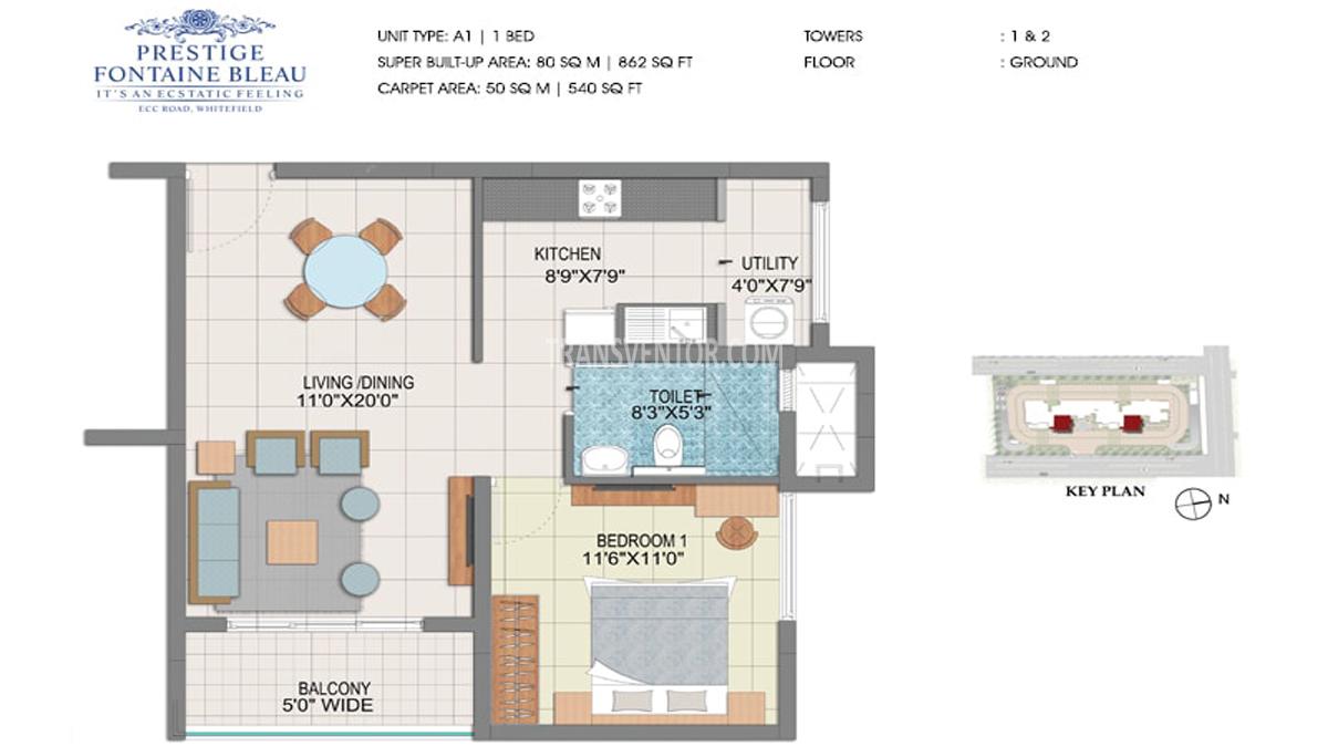 Prestige Fontaine Bleau Floor Plan 1