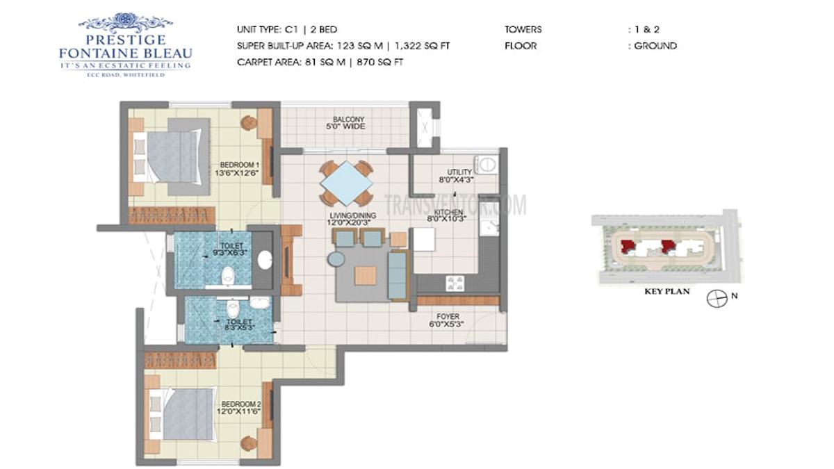 Prestige Fontaine Bleau Floor Plan 2