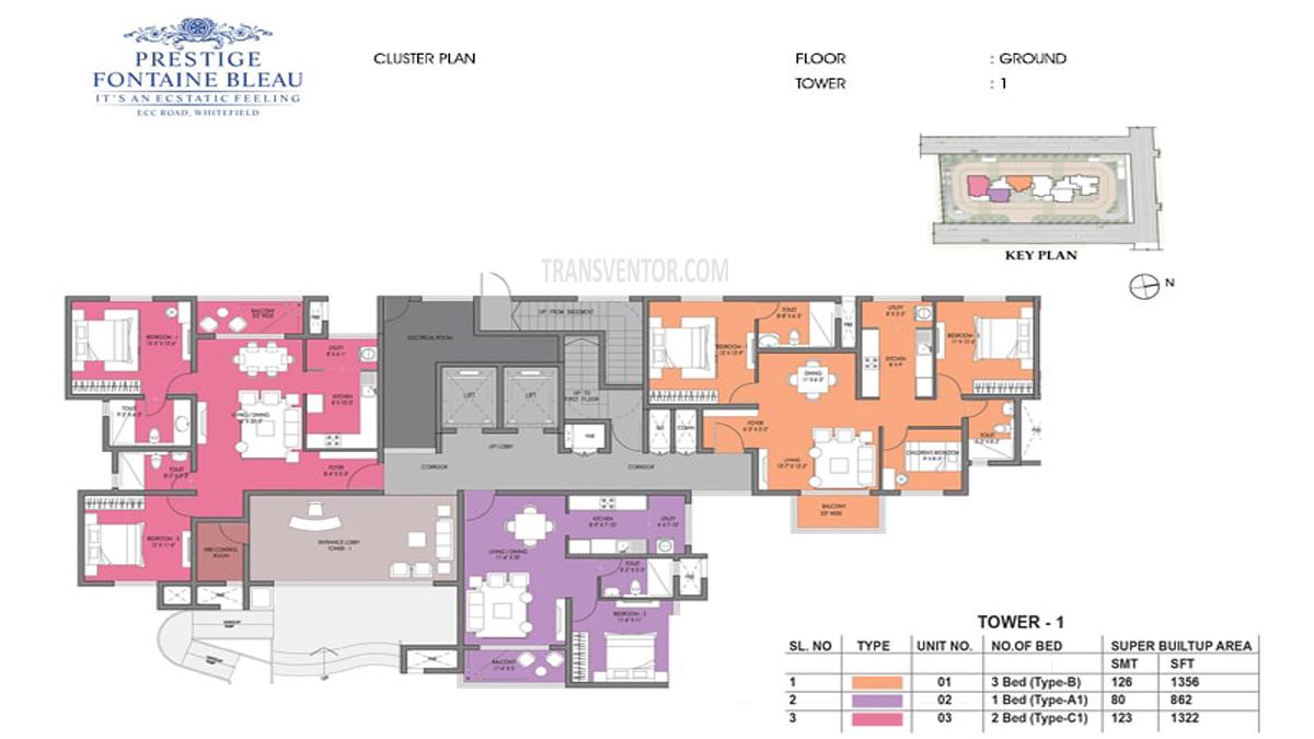 Prestige Fontaine Bleau Floor Plan 5