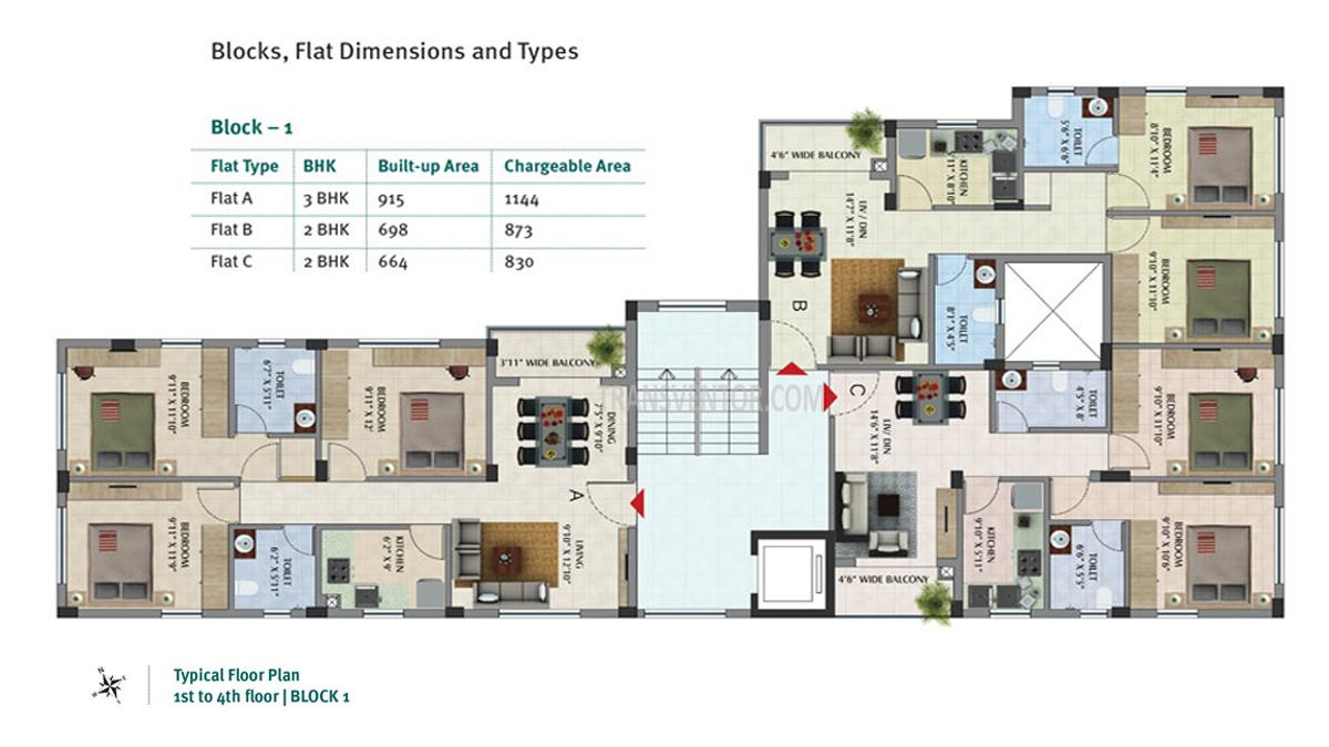Primarc Sukriti Floor Plan 1