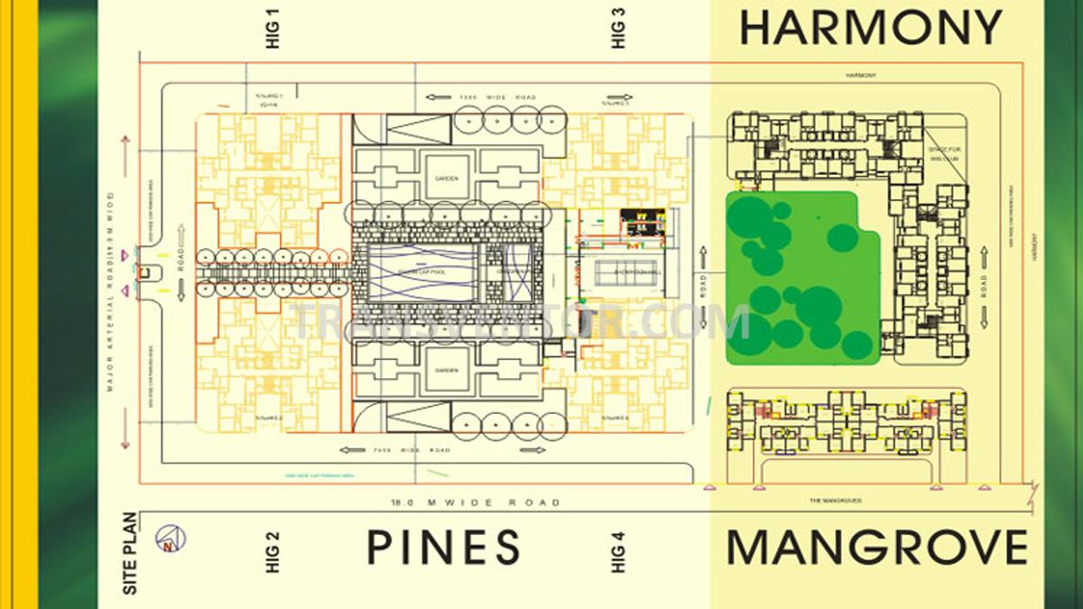 Shrachi Greenwood Sonata Floor Plan 1