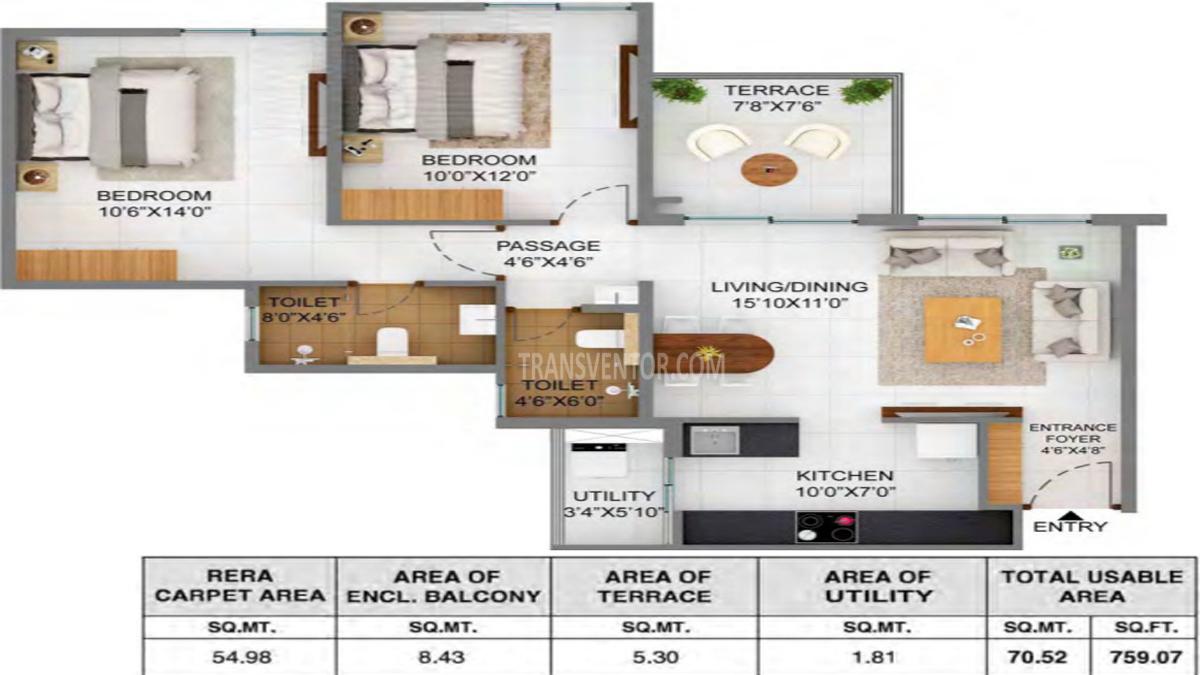 Joyville Hinjewadi Floor Plan 3